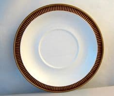 Poole Pottery Chestnut Saucers for Standard Cups