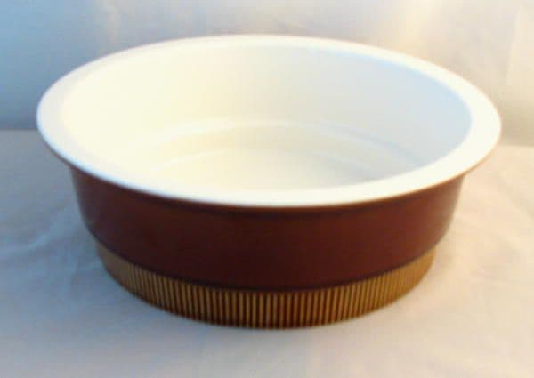 Poole Pottery Chestnut Vegetable Serving Dishes (Without Lids)