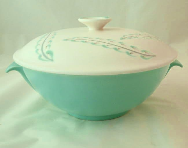Poole Pottery Feather Drift Lidded Serving Dish
