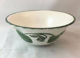 Poole Pottery Green Leaf Cereal/Soup Bowls
