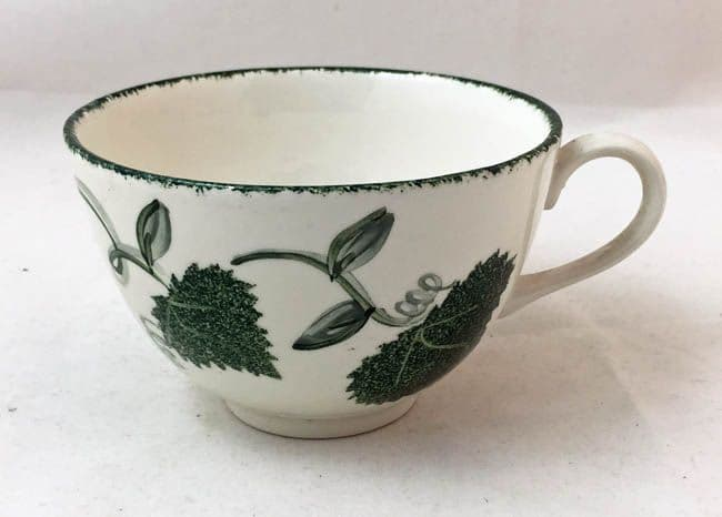 Poole Pottery Green Leaf Cups