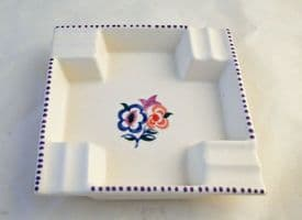 """Poole Pottery Hand Painted Ash Tray in the """"KG"""" Pattern"""