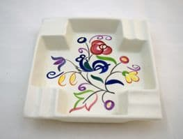 """Poole Pottery Hand Painted Ash Tray in the """"LE"""" Pattern"""