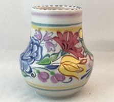 Poole Pottery Hand Painted Early Small Traditional Vase In The BN Pattern