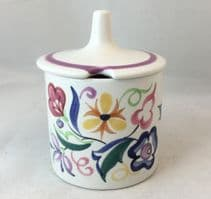 Poole Pottery Hand Painted Jam Pot in the CS Pattern