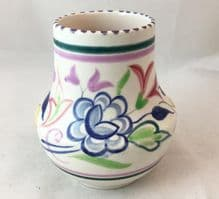 Poole Pottery Hand Painted Small Traditional Vase In The BN Pattern