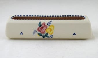 """Poole Pottery Hand Painted Traditional """"BF"""" Flower Trough"""