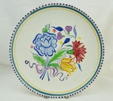 Poole Pottery Hand Painted Traditional BN Plate (No 2)