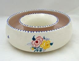 Poole Pottery Hand Painted Traditional Circular Posy Trough in the BF Pattern