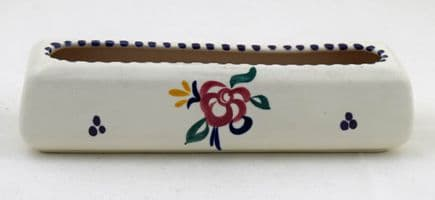 """Poole Pottery Hand Painted Traditional """"KP"""" Flower Trough"""