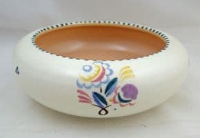 Poole Pottery Hand Painted Traditional Posy Bowl in the RD Pattern