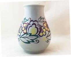 Poole Pottery Hand Painted Traditional  Vase in the XA Pattern