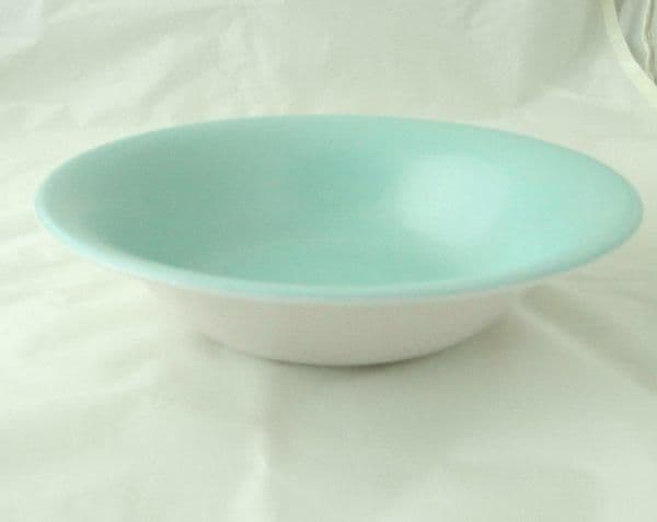 Poole Pottery Ice Green and Mushroom Open Large Salad/Fruit Serving Bowls