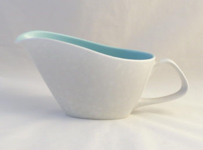 Poole Pottery Ice Green and Seagull Gravy Boat (Contour Shape)