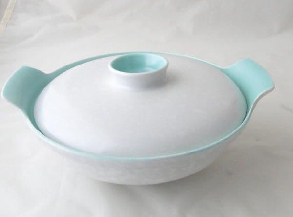 Poole Pottery Ice Green and Seagull Lidded Serving Dish