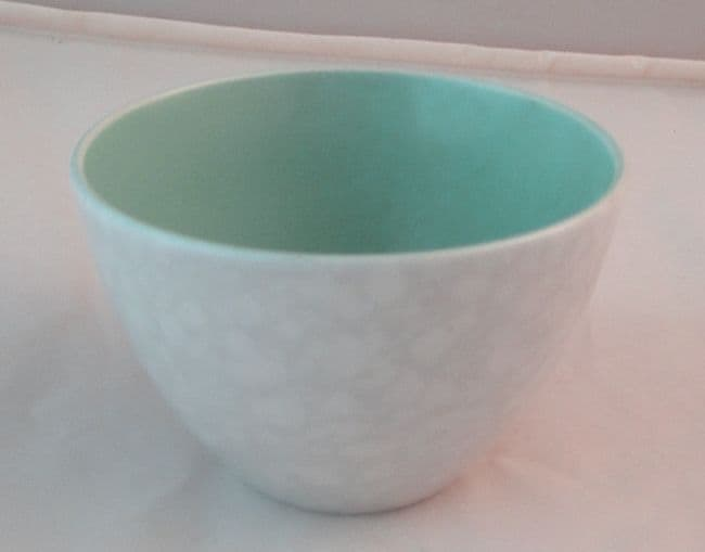 Poole Pottery Ice Green and Seagull Open Sugar Bowls