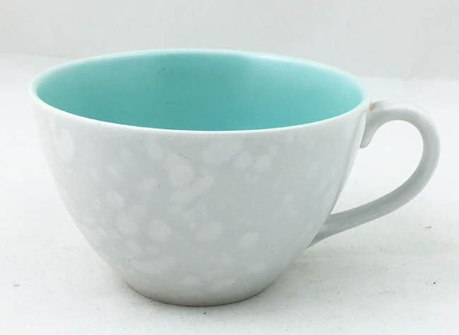 Poole Pottery Ice Green and Seagull Shallow Style Breakfast Cups (Streamline Shape)