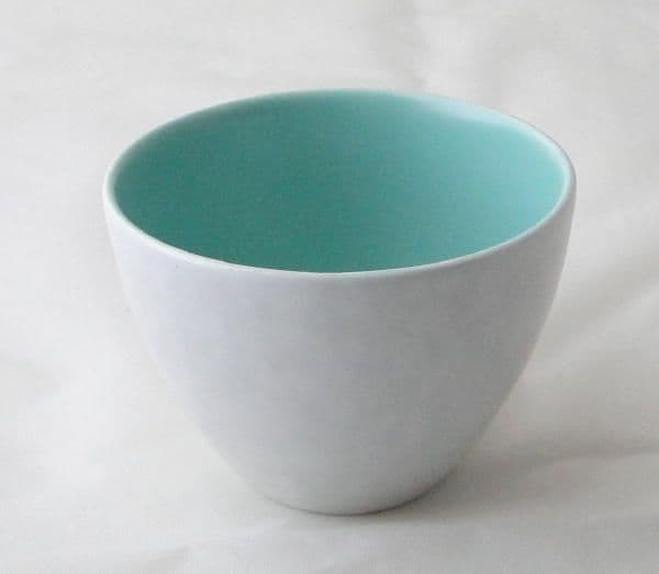 Poole Pottery Ice Green and Seagull Small Open Sugar Bowls