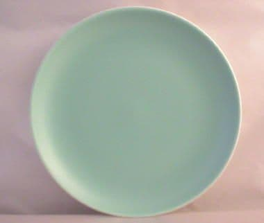 Poole Pottery Ice Green Plates, Eight Inch