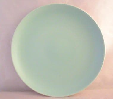 Poole Pottery Ice Green Plates, Ten Inch Dinner Plates