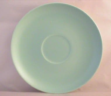 Poole Pottery Ice Green Saucers for the Cup Handled Soup Bowls