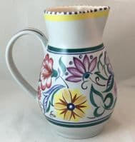 Poole Pottery Jug in the Hand Painted Traditional CS Pattern