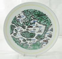 Poole Pottery Map  Plate, Poole Harbour