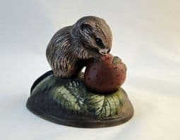 Poole Pottery Stoneware, Acrylic Painted Vole with a Strawberry