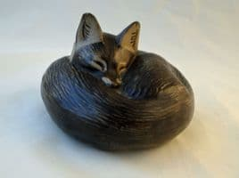 Poole Pottery Stoneware, Fox Paperweight
