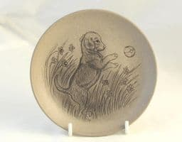 Poole Pottery Stoneware Plate, Beagle Puppy Playing with Ball