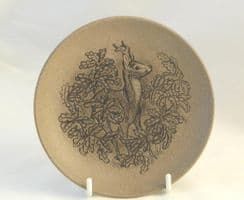 Poole Pottery Stoneware Plate, Deer in NewForest