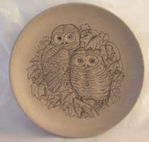 Poole Pottery Stoneware Plate, Little Owls