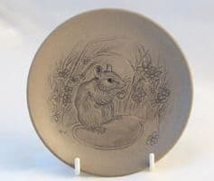Poole Pottery Stoneware Plate, Mouse Eating a Nut