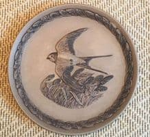 Poole Pottery Stoneware Plate, The Swallow.