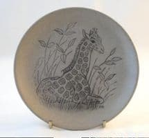 Poole Pottery Stoneware Plate, Young Giraffe