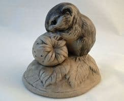 Poole Pottery Stoneware, Vole with a Strawberry