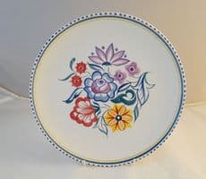 Poole Pottery Traditionally Hand Painted CS Plate