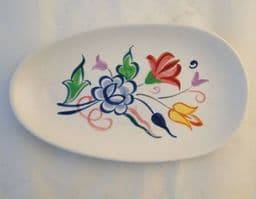 """Poole Pottery Traditionally Hand Painted Dish in """"BN""""  Pattern"""