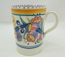 Poole Pottery Traditionally Hand Painted Mug in the EE Pattern