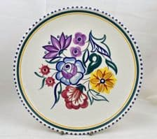 Poole Pottery Traditionally Hand Painted Nine Inch CS Plate