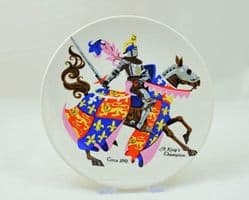 """Poole Pottery Transfer Plate, """"A King's Champion"""""""