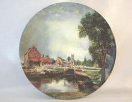 Poole Pottery Transfer Plate, Constable's Mill at Dedham