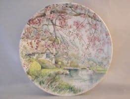 Poole Pottery Transfer Plate, England's 4 Seasons, Spring on the River Avon