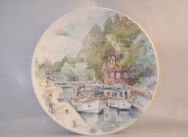 Poole Pottery Transfer Plate, England's 4 Seasons, Summer on the Thames