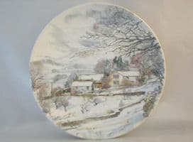 Poole Pottery Transfer Plate, England's 4 Seasons, Winter in the Dales