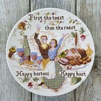 """Poole Pottery Transfer Plate, """"First The Toast..."""""""