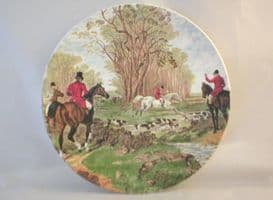 Poole Pottery Transfer Plate, Fox Hunting