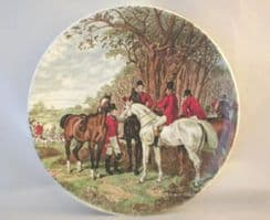 Poole Pottery Transfer Plate, Fox Hunting Riders Consulting