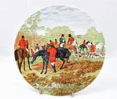 Poole Pottery Transfer Plate, Fox Hunting. Dismounted Rider