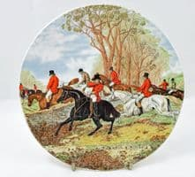 Poole Pottery Transfer Plate, Fox Hunting. Horse Refusing to Jump